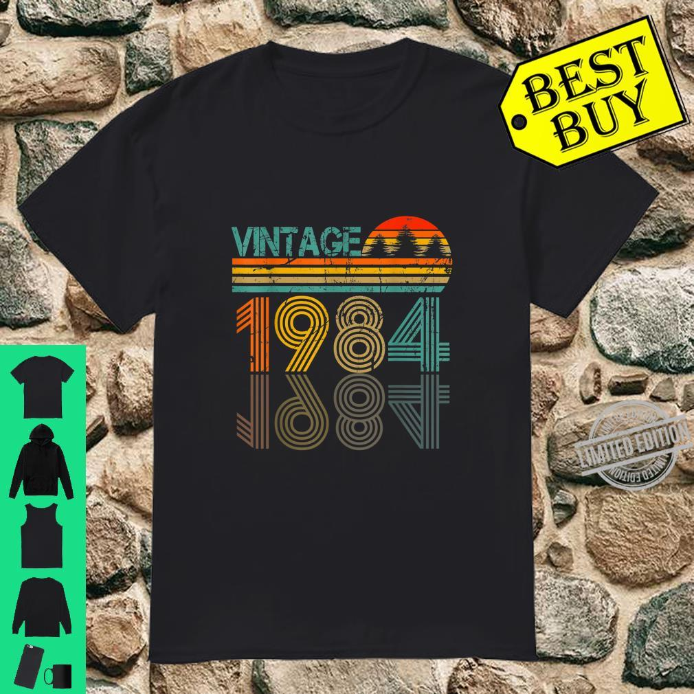 36 Years Old Born in 1984 Vintage 36th Birthday Shirt