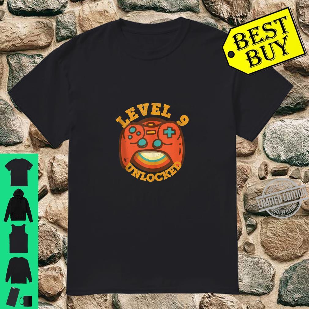 9th Birthday For 9 Year Old Boys Girls Level 9 Unlocked Shirt