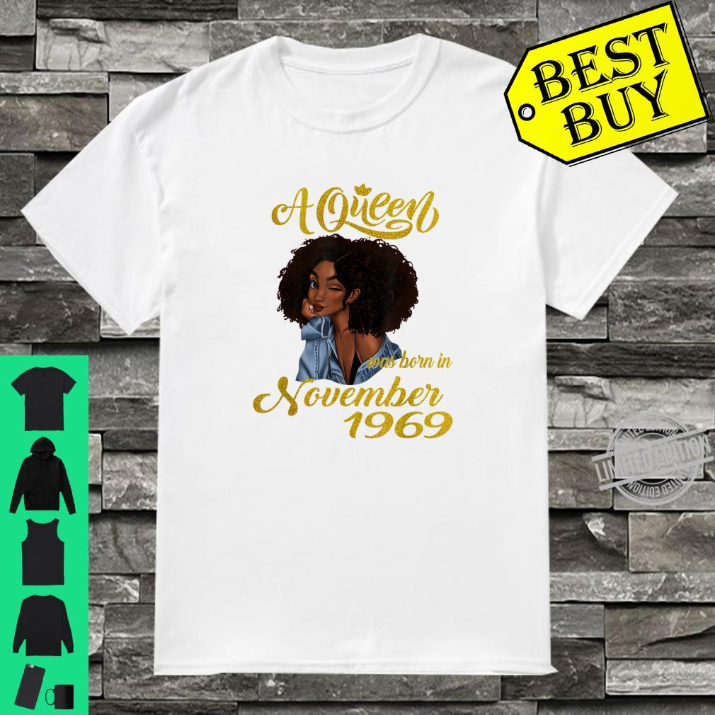 A Queen Was Born in November 1969 50th Birthday Shirt