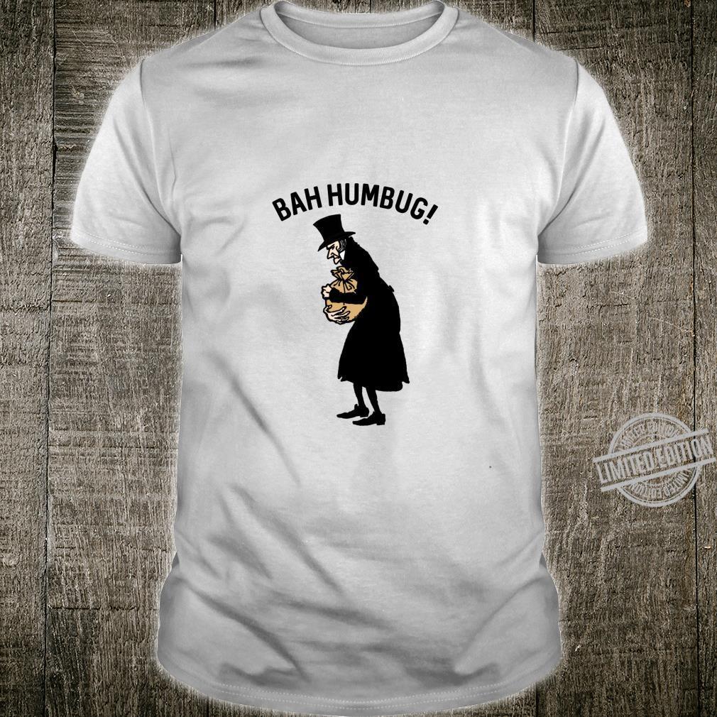 Anti Christmas Carol Scrooge Tophat Bah Humbug Shirt