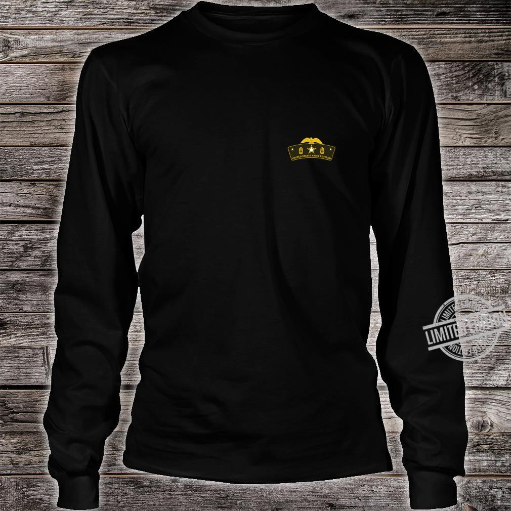 Army Retired First Sergeant Tab Shirt long sleeved