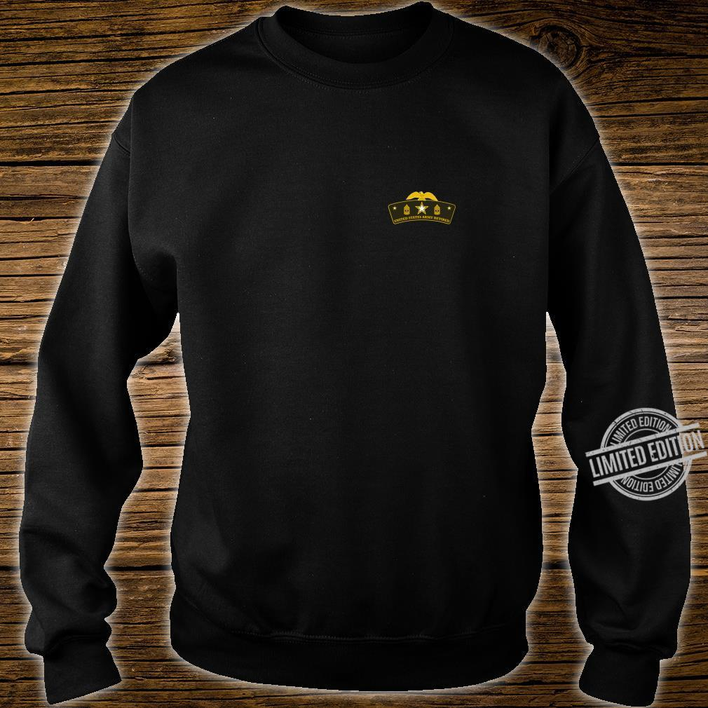 Army Retired First Sergeant Tab Shirt sweater