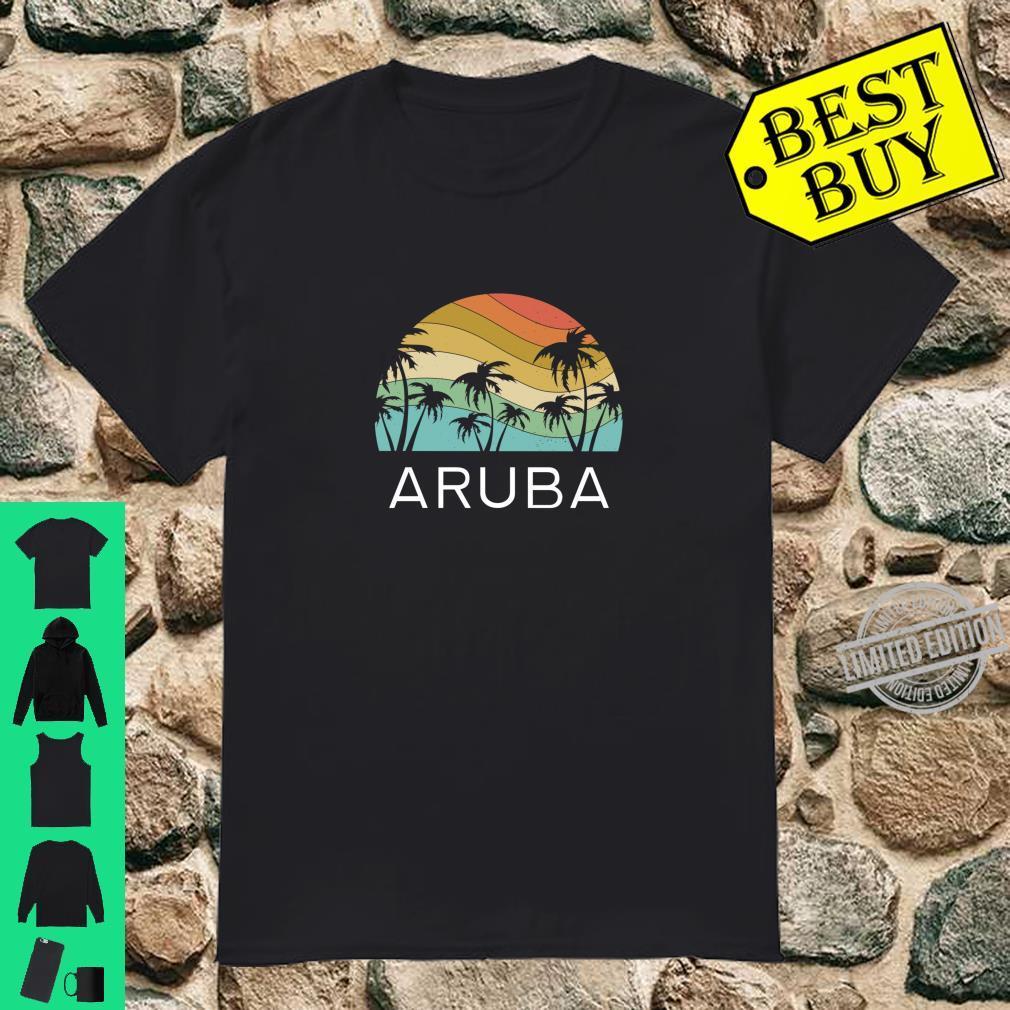 Aruba Island Beach Retro Vintage Vacation Souvenir Flag Shirt