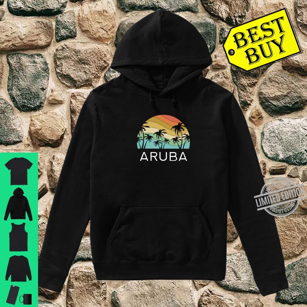 Aruba Island Beach Retro Vintage Vacation Souvenir Flag Shirt hoodie