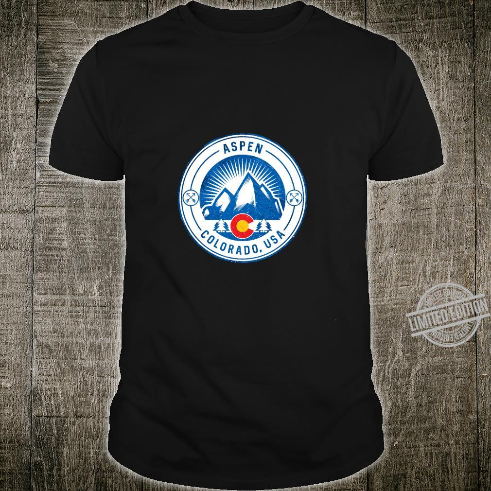 Aspen Colorado Flag Rocky Mountain Home Shirt