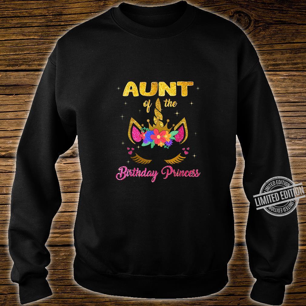 Aunt Of The Birthday Princess Girl Unicorn Shirt sweater