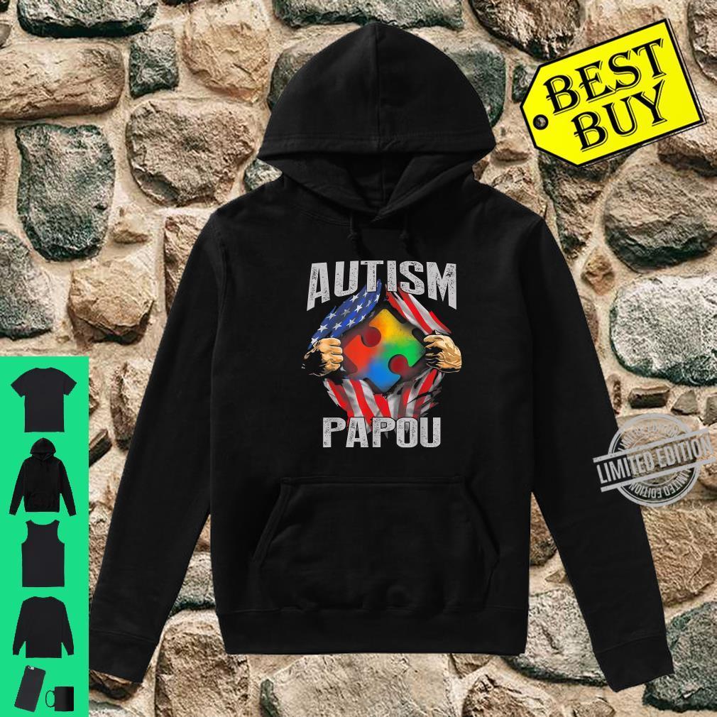 Autism Papou American Flag Autism Awareness Shirt hoodie