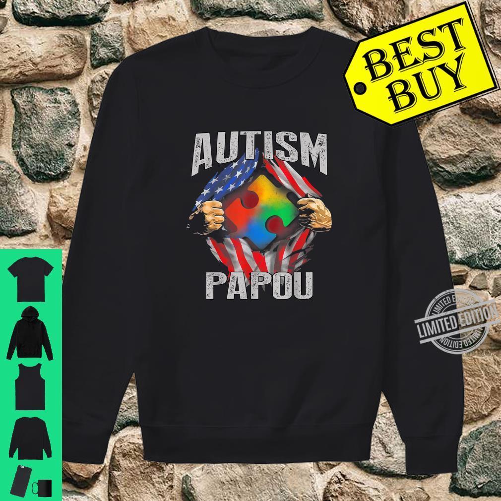 Autism Papou American Flag Autism Awareness Shirt sweater