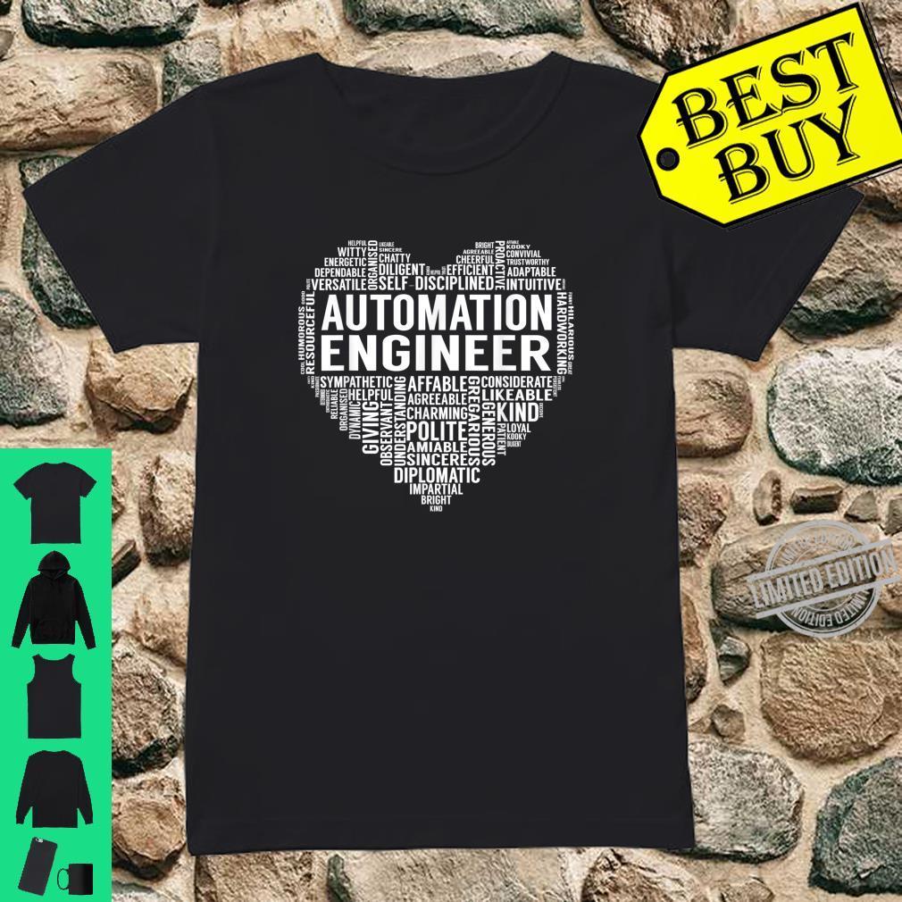 Automation Engineer Heart Shirt ladies tee