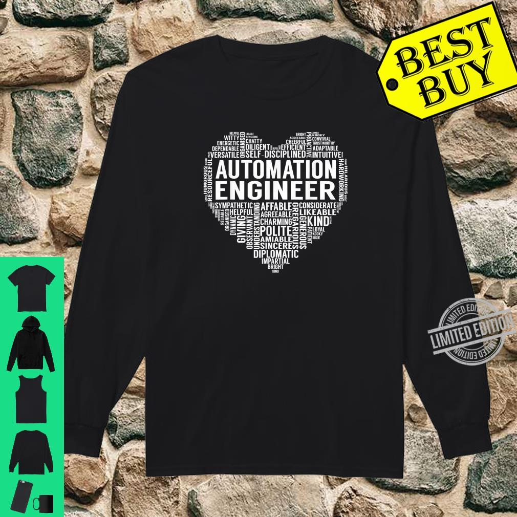 Automation Engineer Heart Shirt long sleeved