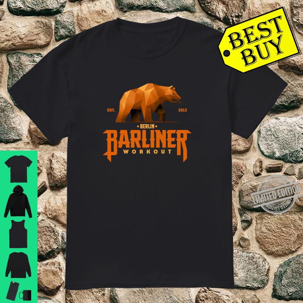 Barliner Workout Berlin Brown Bear Souvenir Calisthenics Shirt Shirt