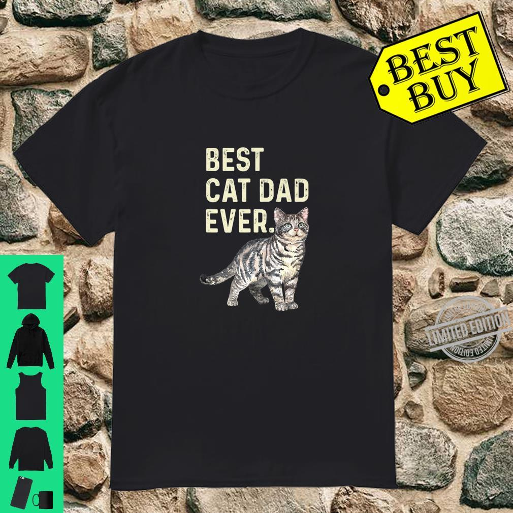 Best Cat Dad Ever Cat Dad Father Vintage Shirt