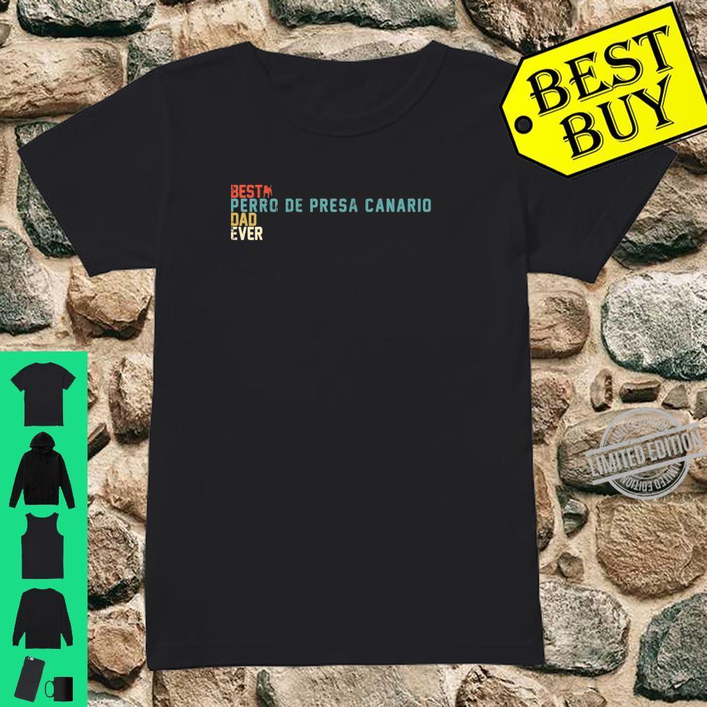 Best PERRO DE PRESA CANARIO Dad Ever Shirt, Retro Vintage Shirt ladies tee