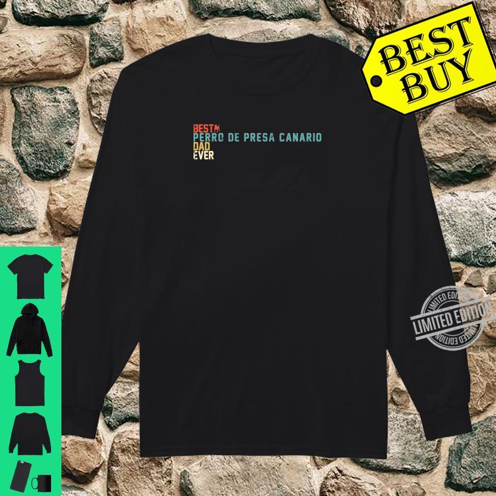 Best PERRO DE PRESA CANARIO Dad Ever Shirt, Retro Vintage Shirt long sleeved