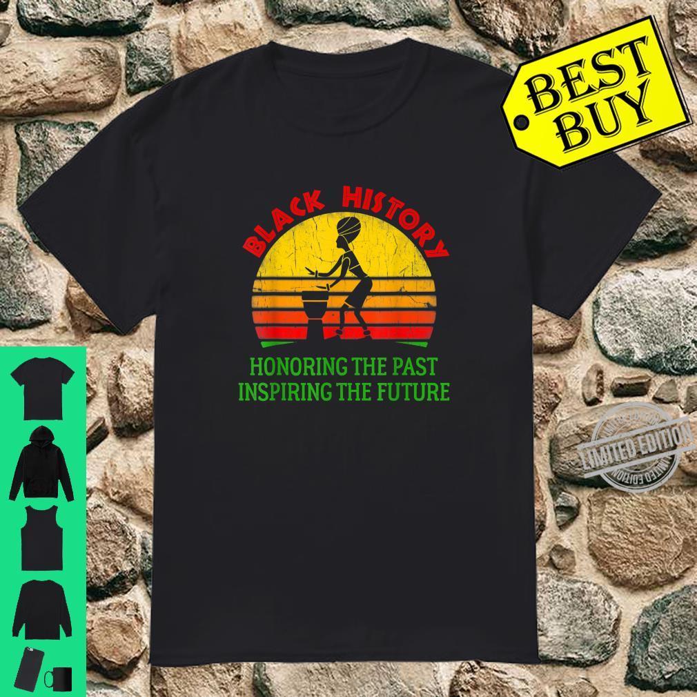 Black History Month Honoring Past Inspiring Future African Shirt