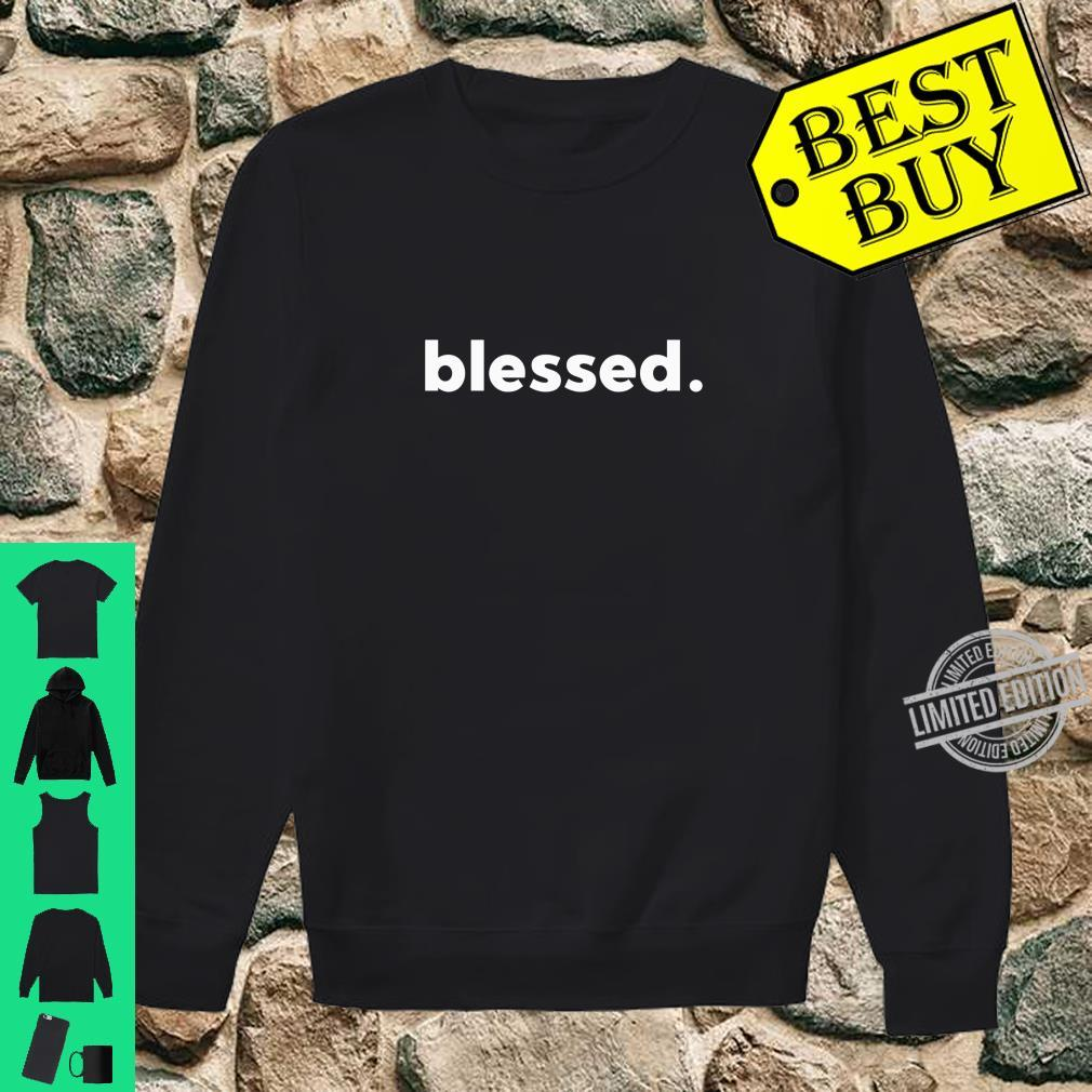 Blessed, Statement, Shirt sweater