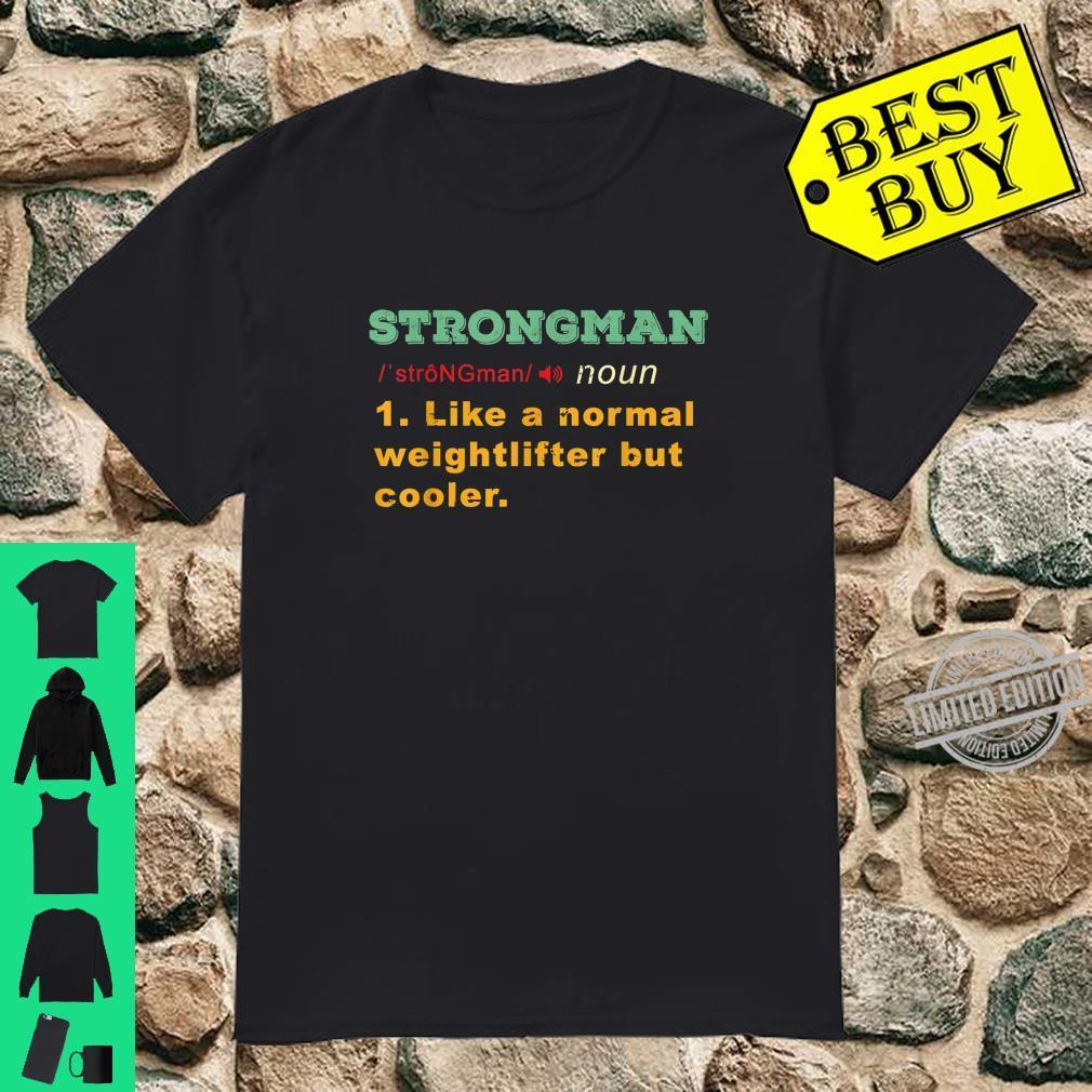 Bodybuilder Strongman Weightlifting, Powerlifting Shirt