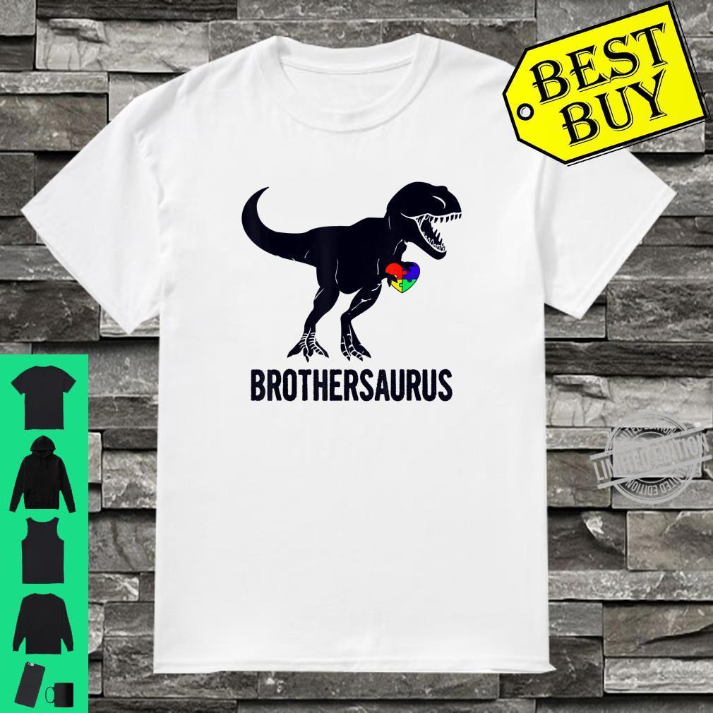 Brothersaurus Autism Awareness Dinosaur Matching Shirt