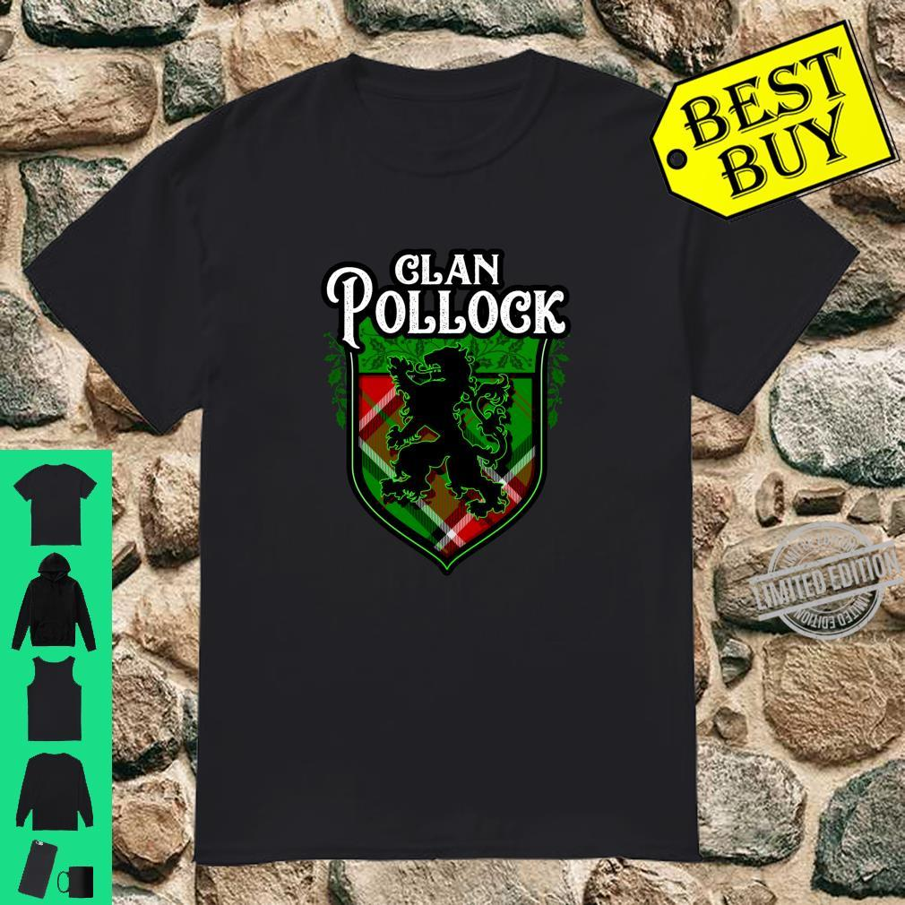 Clan Pollock Surname Scottish Tartan Lion Rampant Crest Shirt