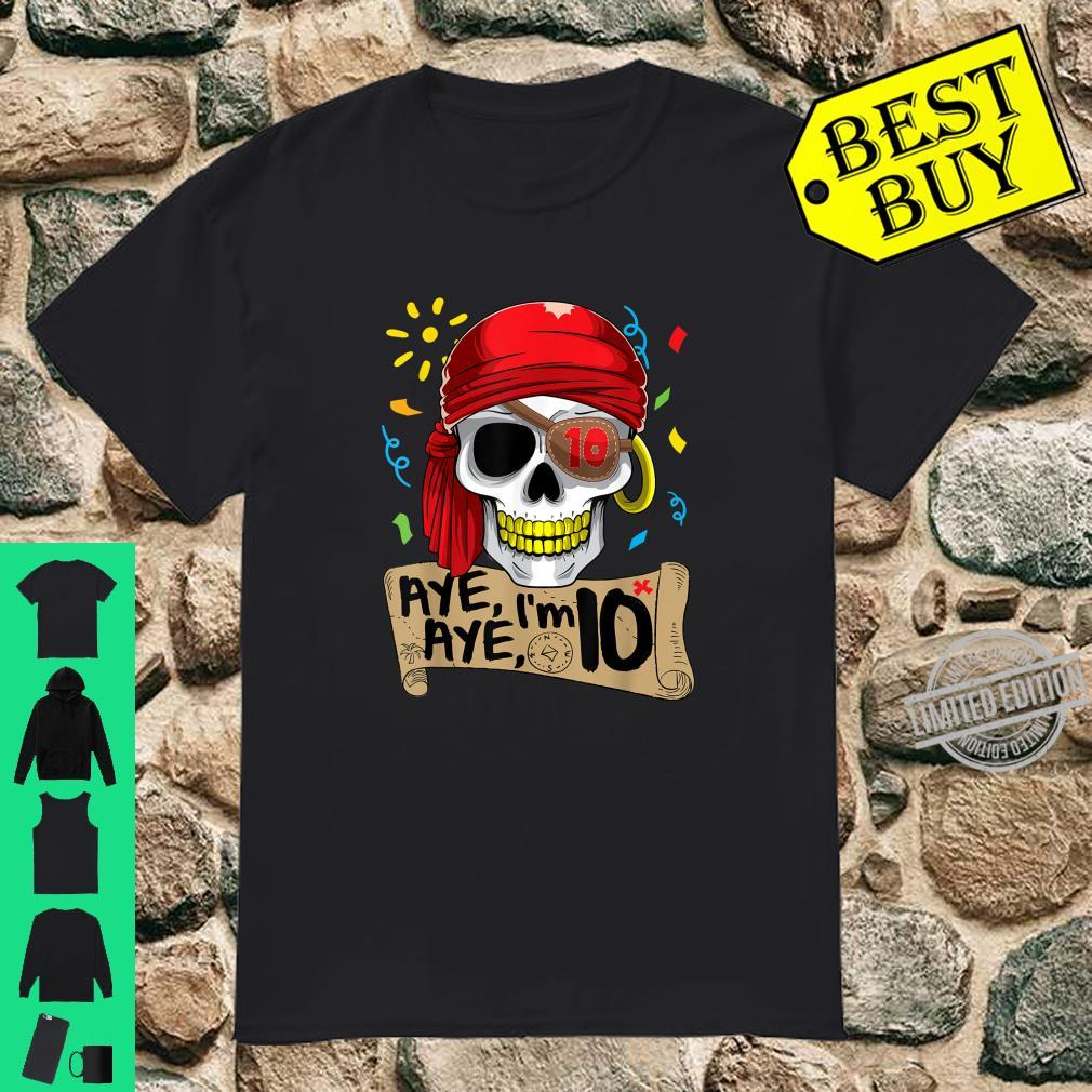Cool Pirate 10 Years Old Birthday Boys Shirt