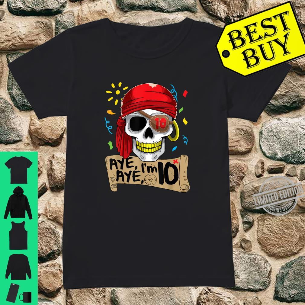 Cool Pirate 10 Years Old Birthday Boys Shirt ladies tee
