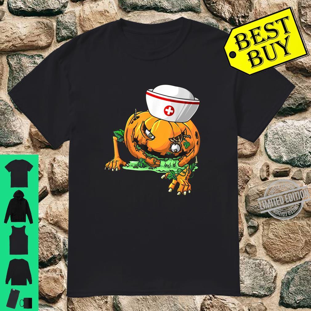 Cool Zombie Pumpkin Nurse DIY Halloween Costume Shirt