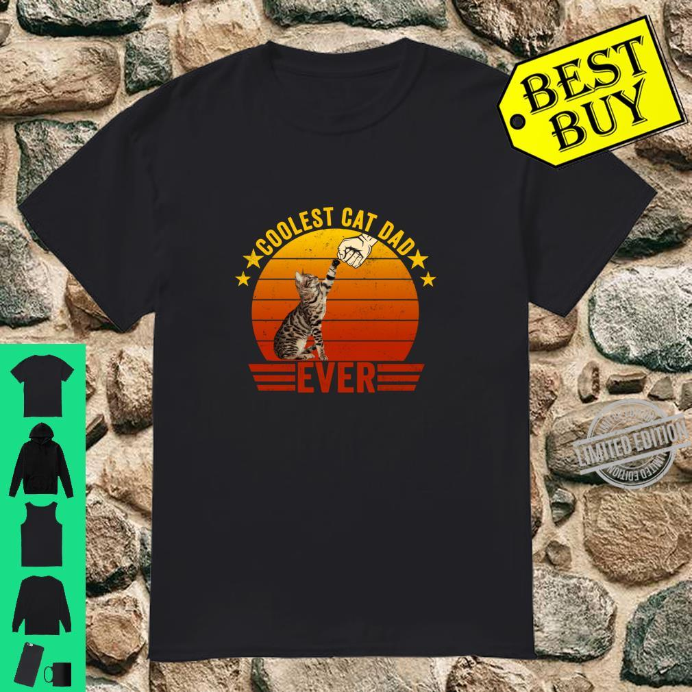Coolest Cat Dad Ever Fist Bump Gesture Vintage Style Shirt
