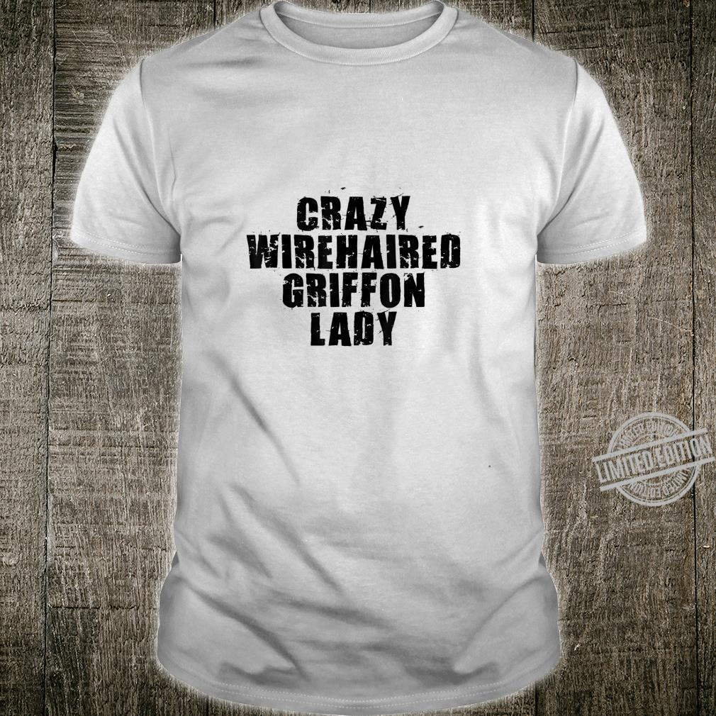 Crazy Wirehaired Griffon Lady ACF062w Dog Shirt