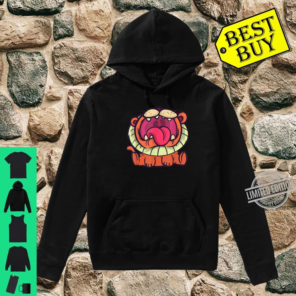 Cute cartoon roaring lion, African safari lion for Shirt hoodie