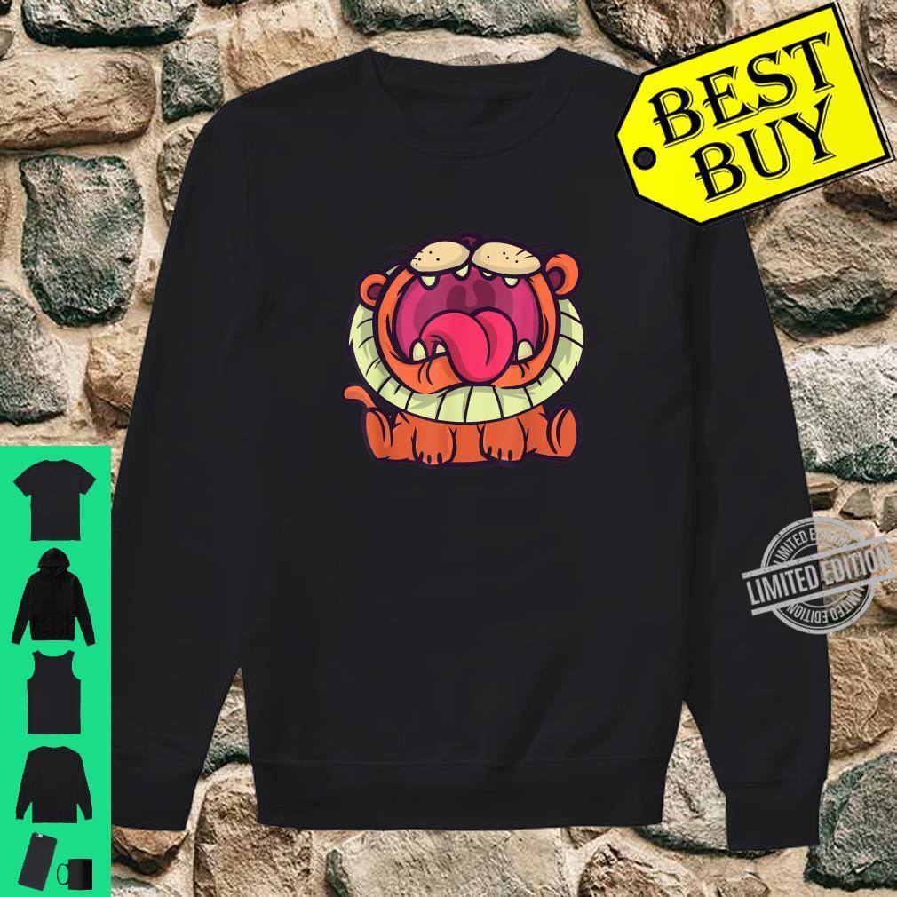 Cute cartoon roaring lion, African safari lion for Shirt sweater