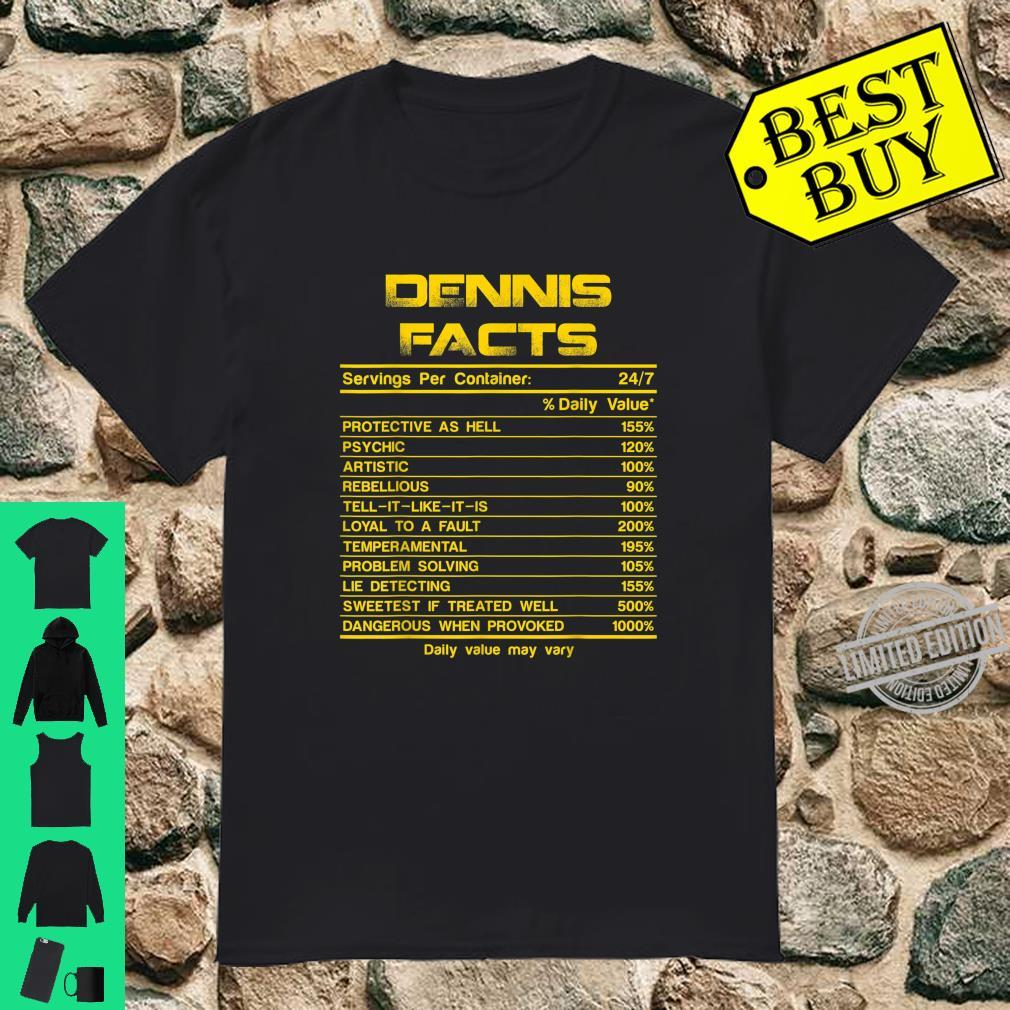 DENNIS facts servings nutrion daily value fathers day Shirt