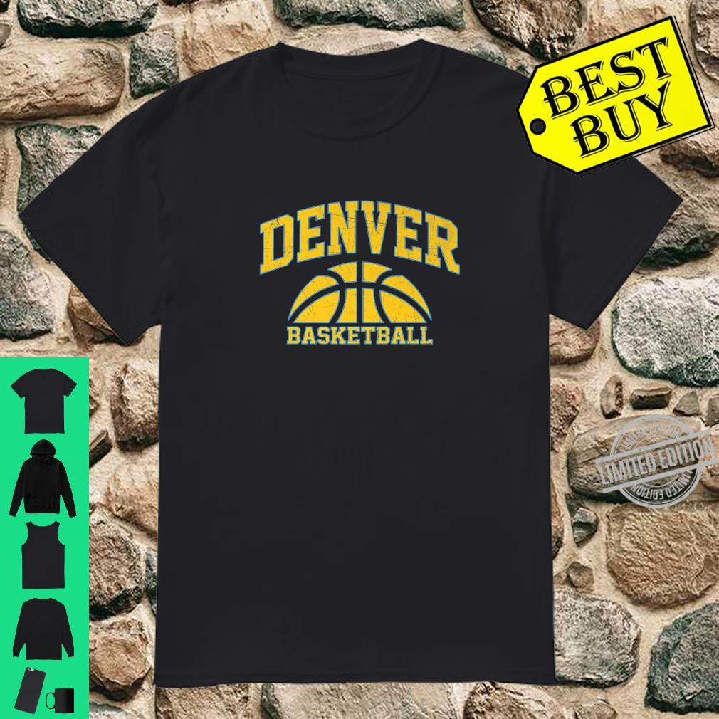 Denver Basketball Vintage Game day Shirt
