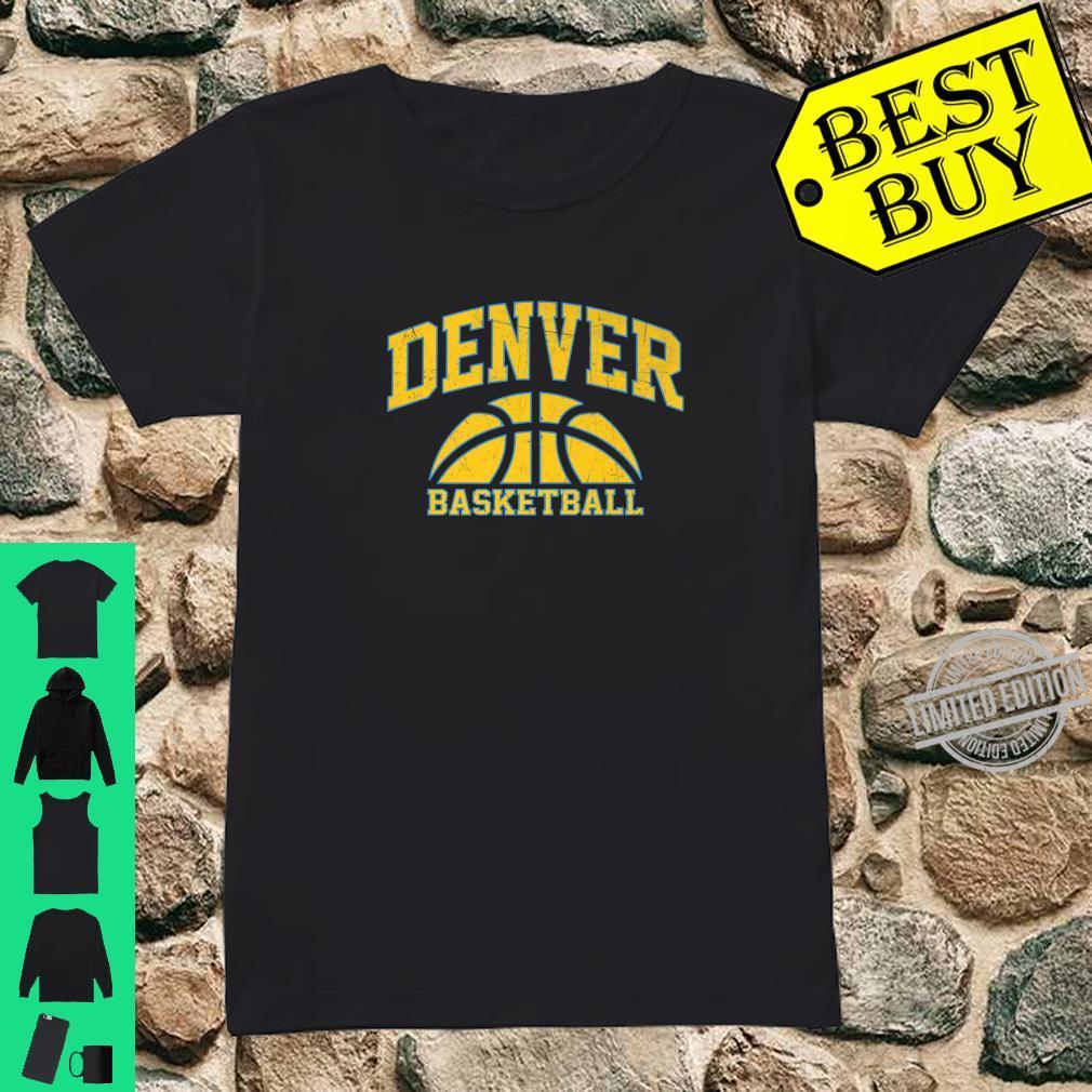 Denver Basketball Vintage Game day Shirt ladies tee