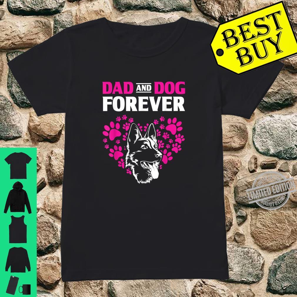 Dog Dad Forever German Shepherd Shirt ladies tee