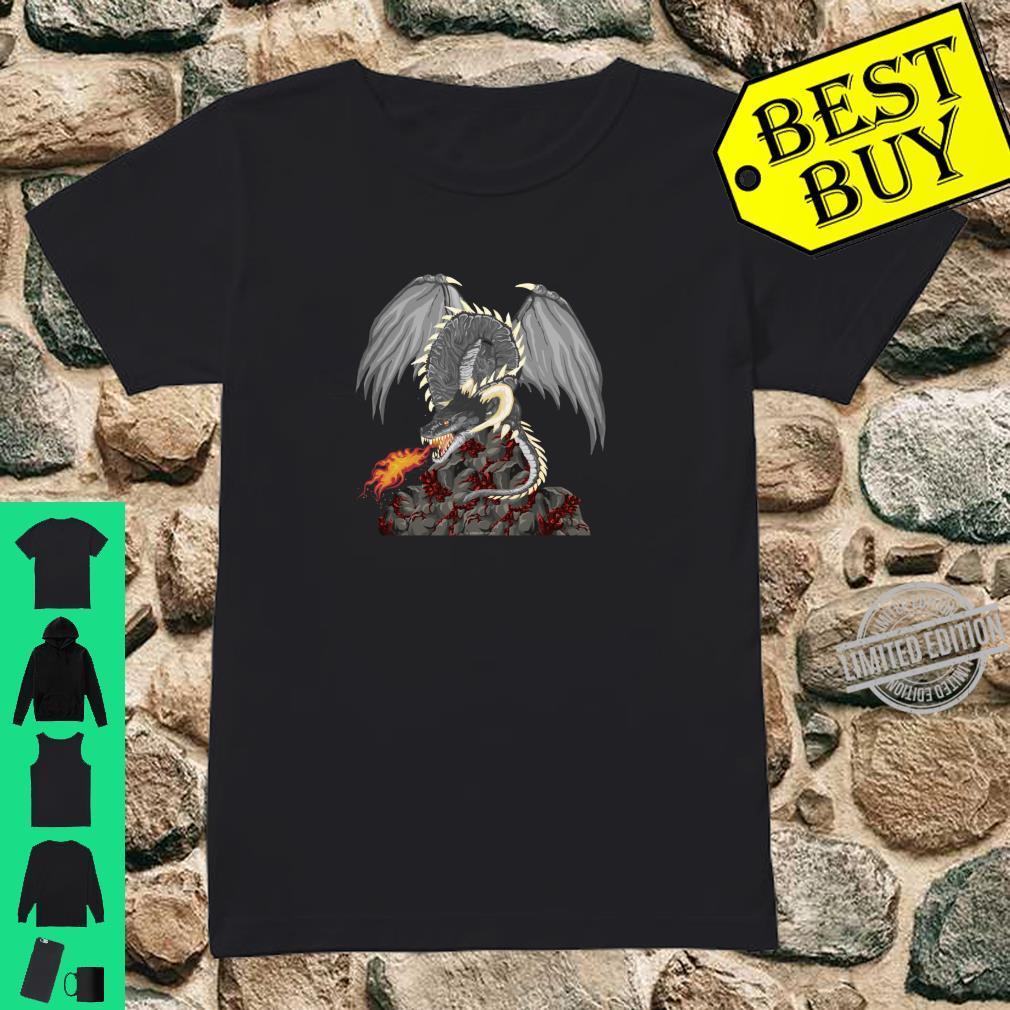 Dragonfire Awesome Dragon Novetly Medieval Fantasy Shirt ladies tee
