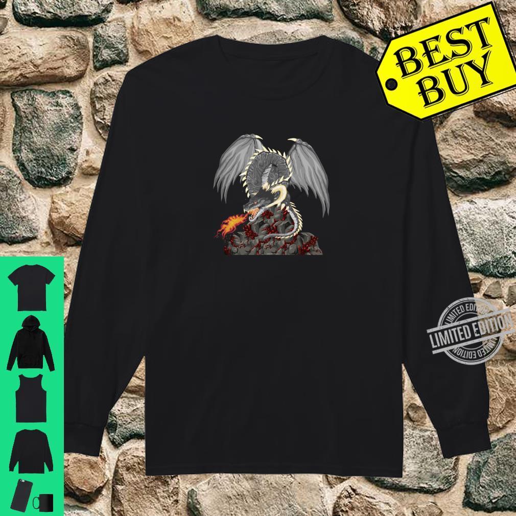 Dragonfire Awesome Dragon Novetly Medieval Fantasy Shirt long sleeved