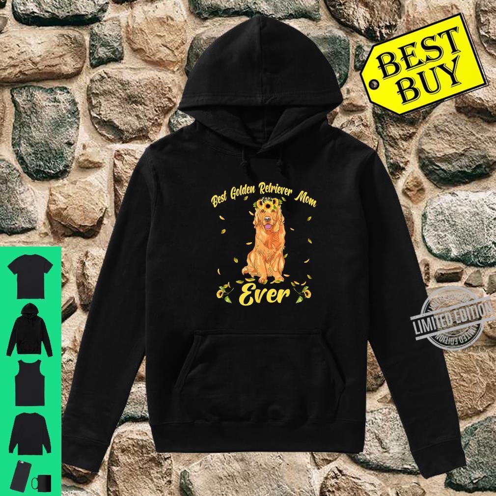 Funny Best Golden Retriever Dog Mom Ever Flowers Shirt hoodie