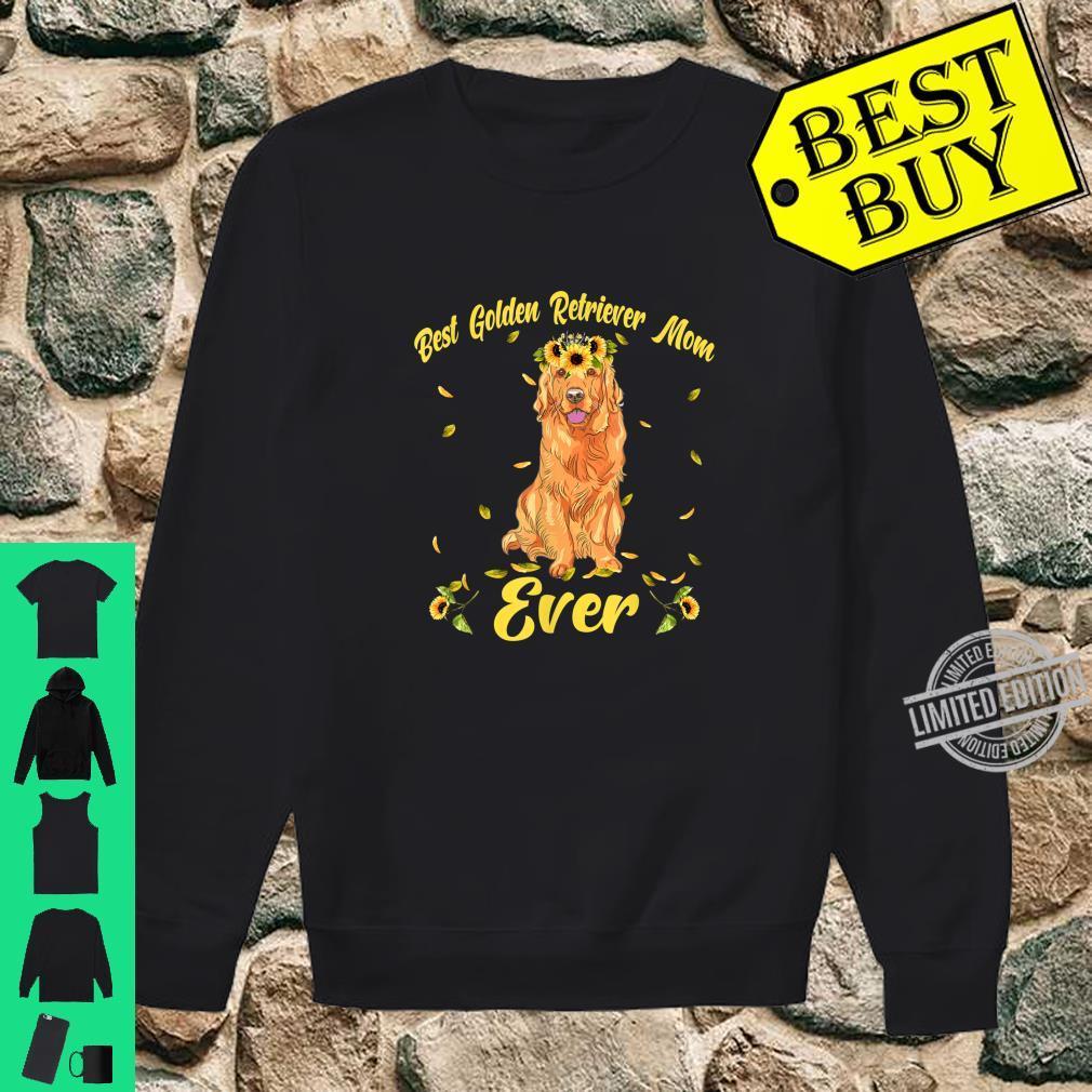 Funny Best Golden Retriever Dog Mom Ever Flowers Shirt sweater