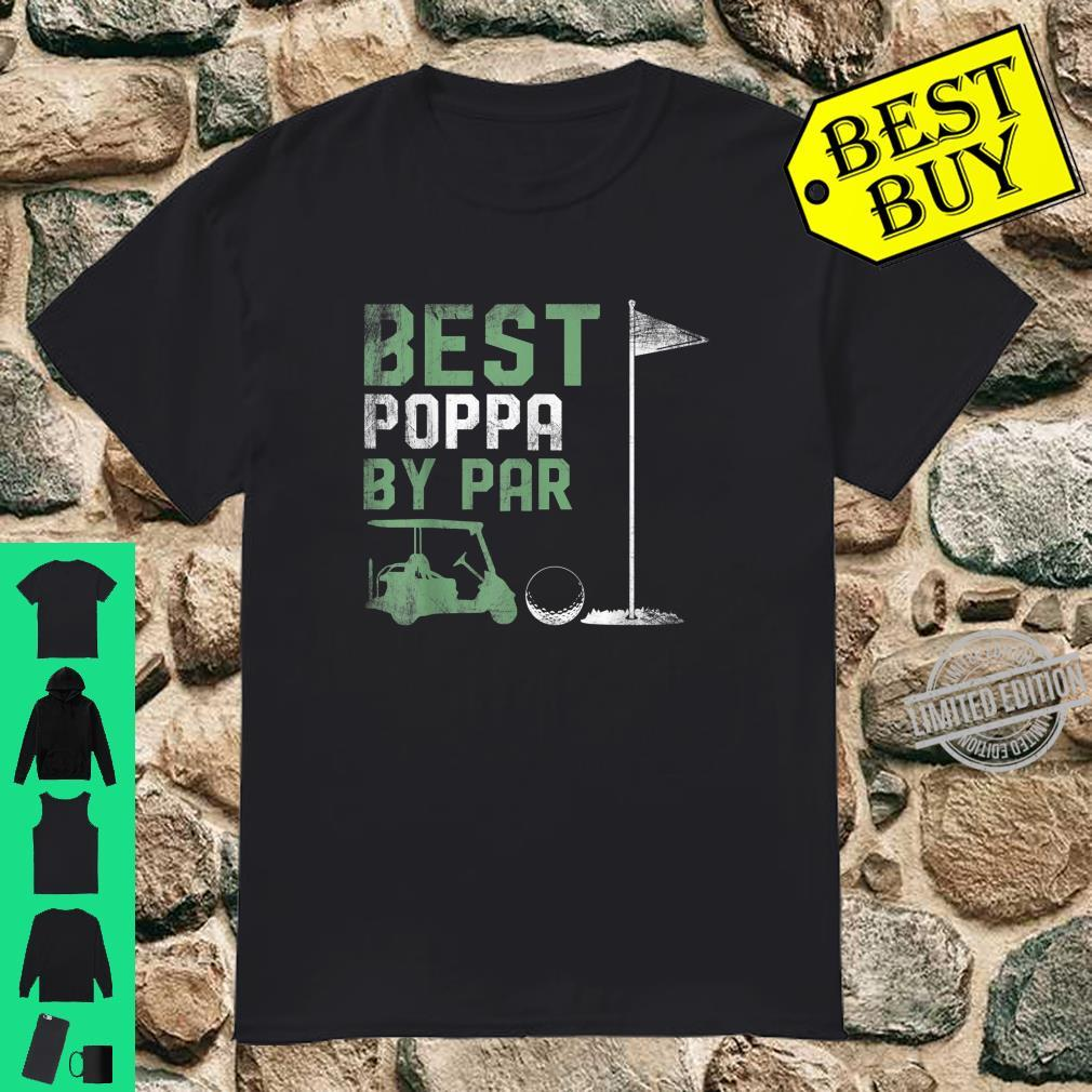 Funny Best Poppa By Par Father's Day Golf Shirt