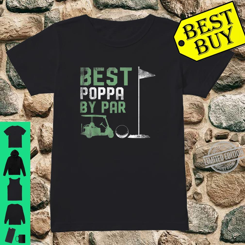 Funny Best Poppa By Par Father's Day Golf Shirt ladies tee