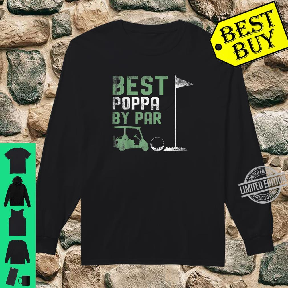 Funny Best Poppa By Par Father's Day Golf Shirt long sleeved