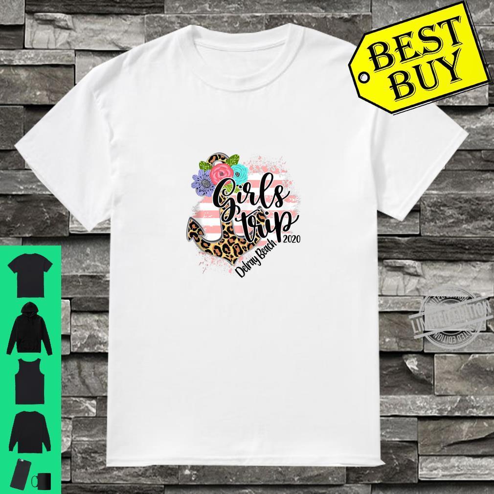 Girls Trip 2020 Delray Florida Leopard Summer Vacation Beach Shirt