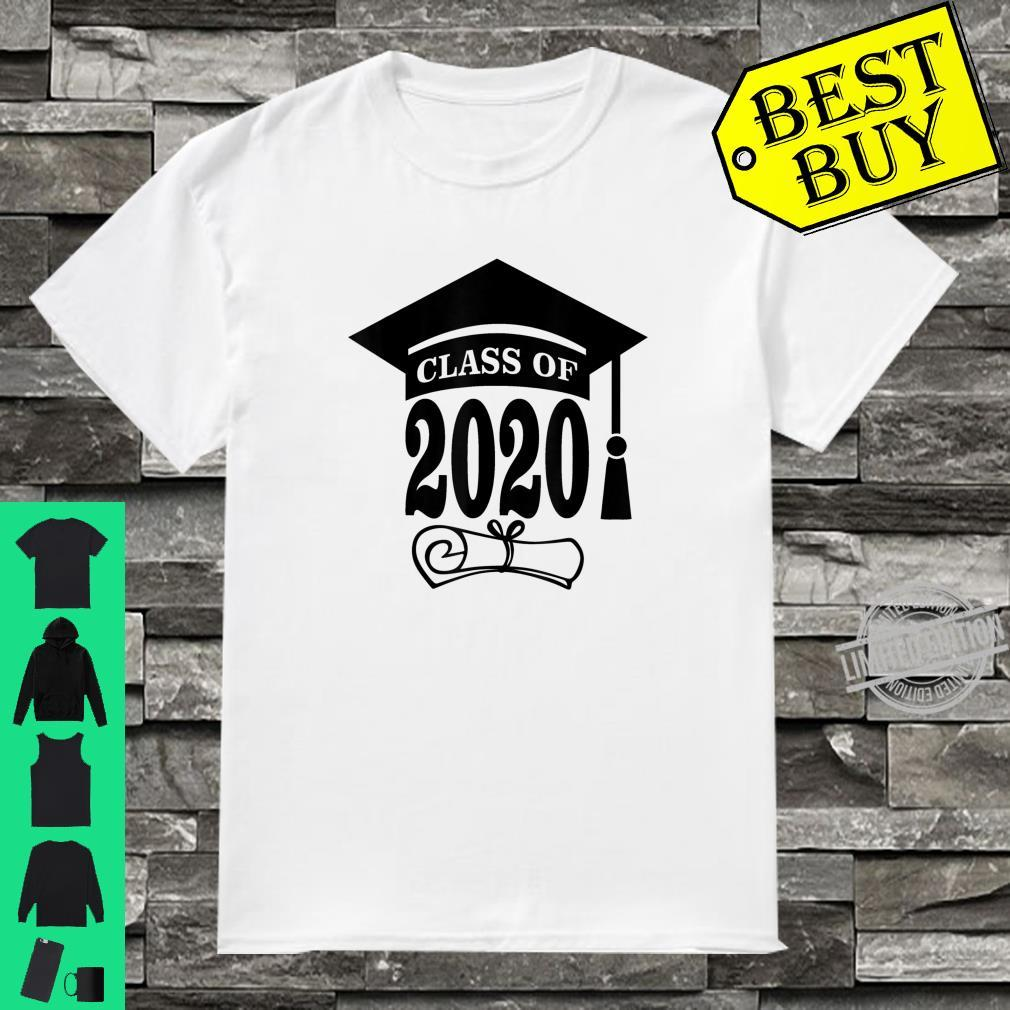 Graduation Cap With Tassel and Scroll Class Of 2020 Shirt