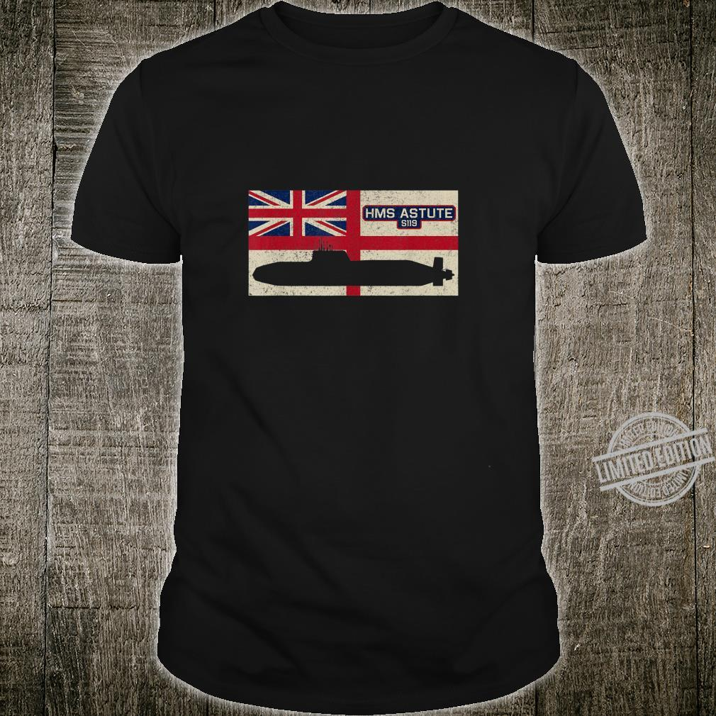 HMS Astute S119 Submarine Royal Navy Flag Shirt