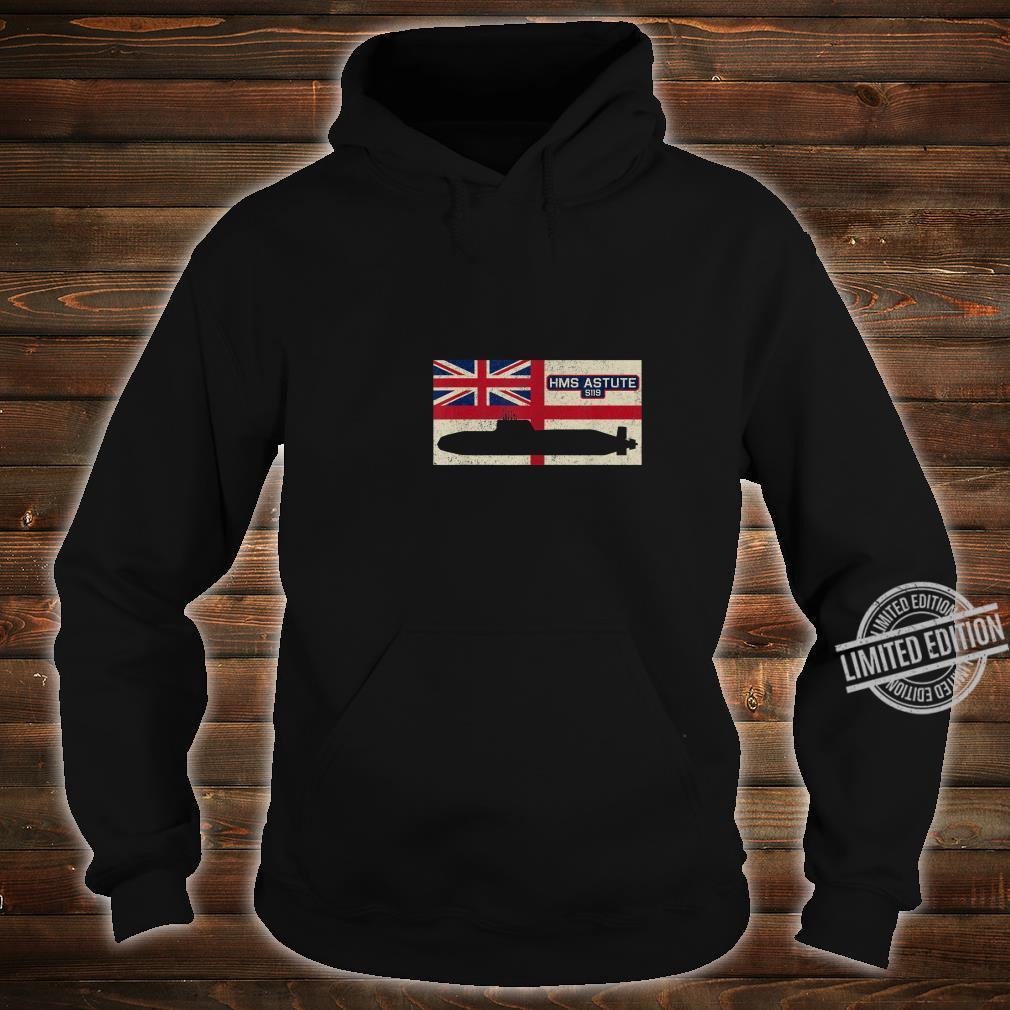 HMS Astute S119 Submarine Royal Navy Flag Shirt hoodie
