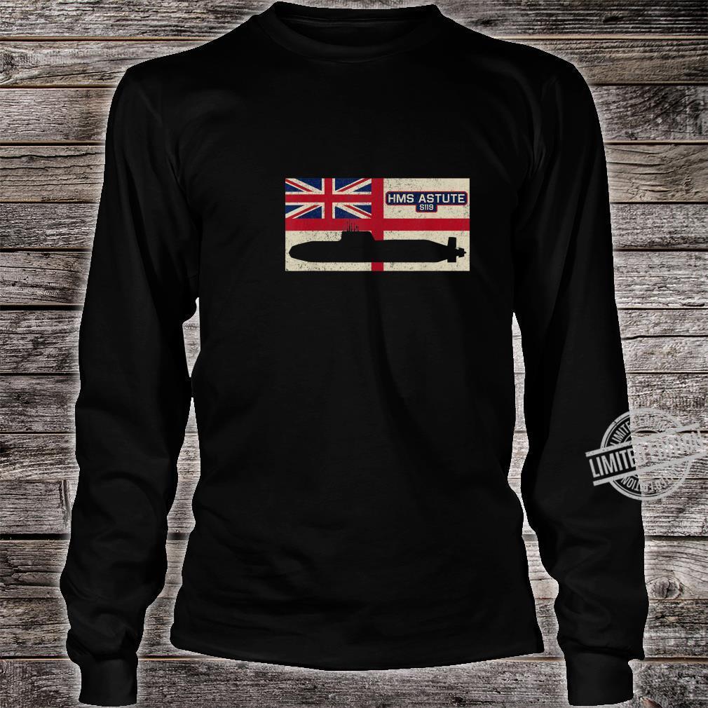 HMS Astute S119 Submarine Royal Navy Flag Shirt long sleeved