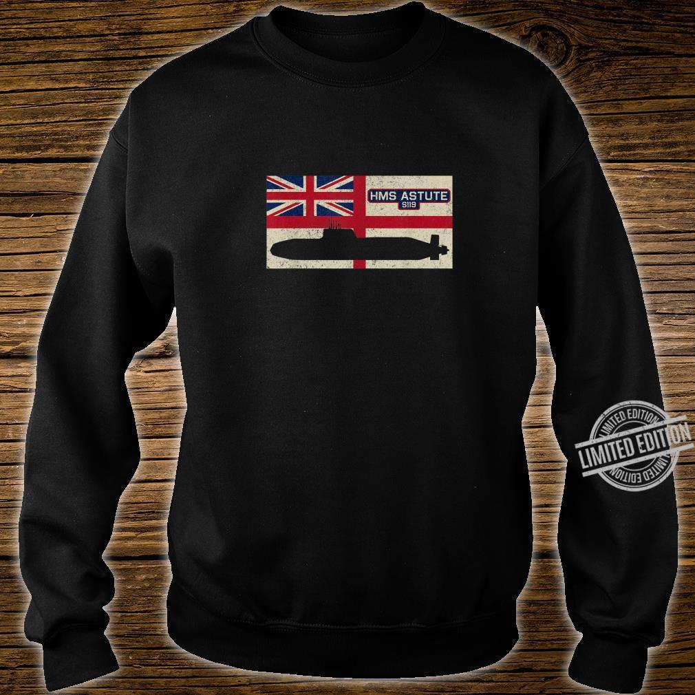 HMS Astute S119 Submarine Royal Navy Flag Shirt sweater