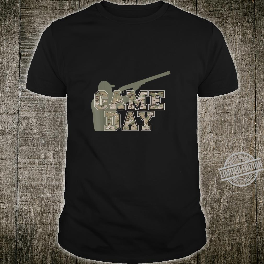 Hunting Apparel GAME DAY Pun Camo Lettering Hunters Shirt