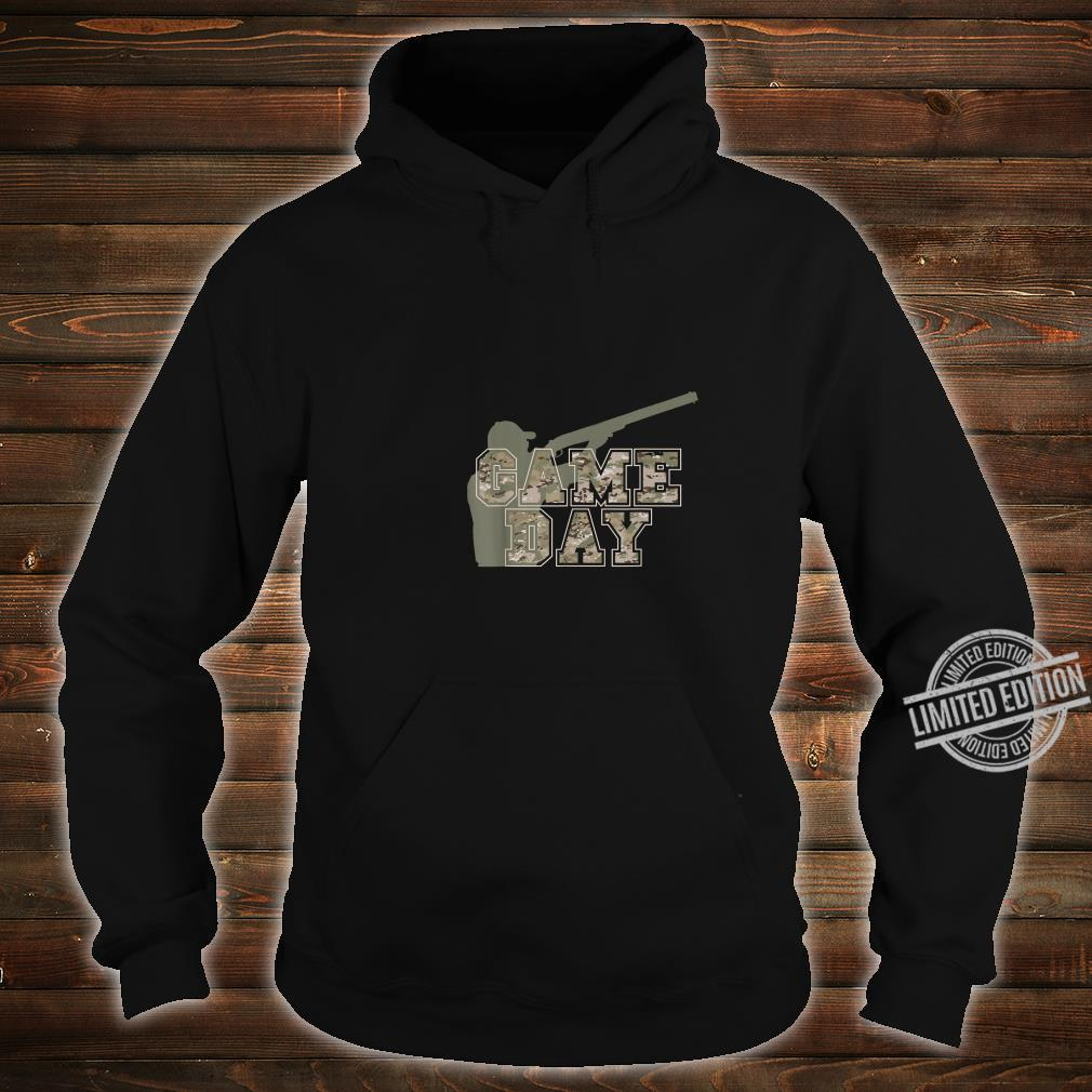 Hunting Apparel GAME DAY Pun Camo Lettering Hunters Shirt hoodie