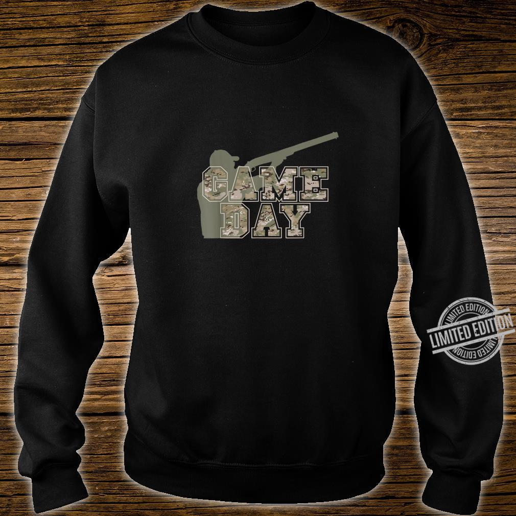Hunting Apparel GAME DAY Pun Camo Lettering Hunters Shirt sweater